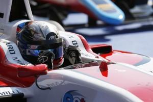 Na Leclerc op zaterdag maakte Alex Albon de dubbelslag vanmorgen compleet © GP3series