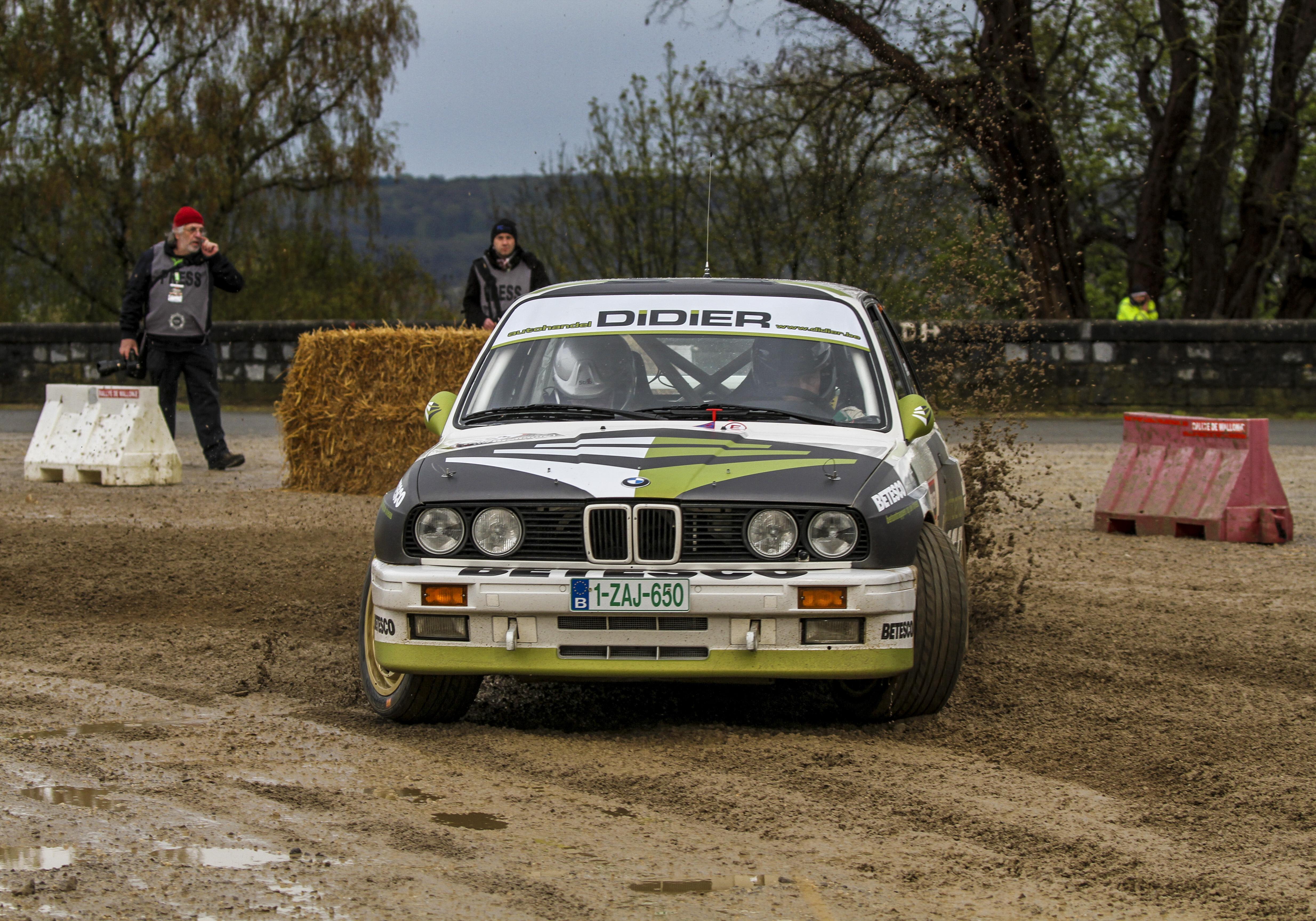 Didier Vanwijnsberghe in de rallye du Var