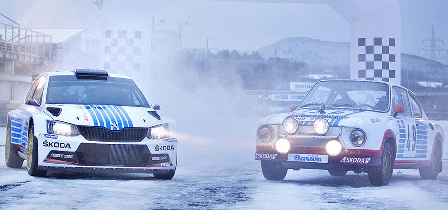 Veertig jaar na de overwinning van Václav Blanha in de 1300cc klasse heeft Andreas Mikkelsen de kans voor het Tsjechische merk de WRC2 klasse te winnen. © skoda motorsport