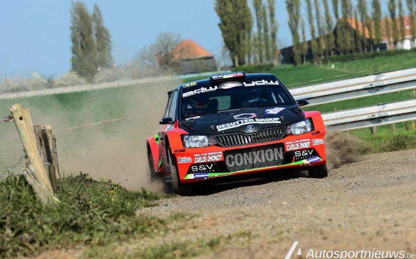 Vincent Verschueren met vertrouwen aan de start in Jambes - Rally van Wallonië