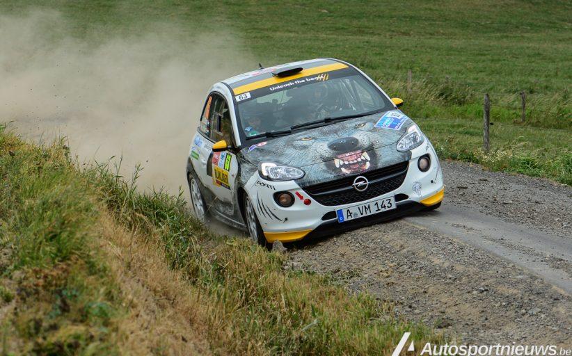Timo en Rebecca van der Marel op het podium in RC4 klasse! Ypres Rally 2017