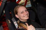 Co.pilote Deborah Cooren na afwezigheid van 2 jaar van start in de Rally van Haspengouw