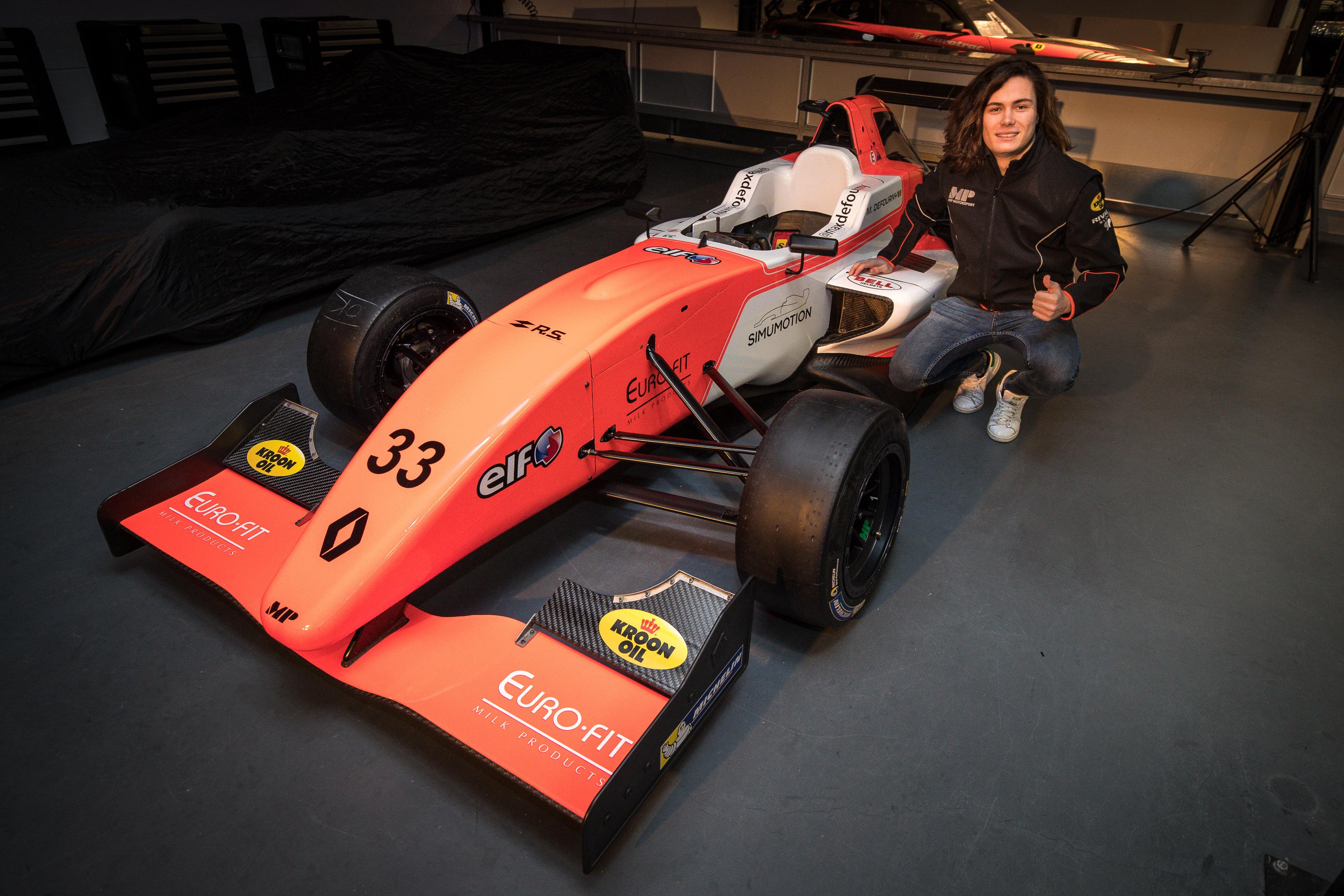 Max Defourny tekent bij MP Motorsport voor seizoen in Eurocup formule renault 2.0