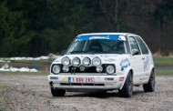 Het duo Daffe-Jeanquart in de Legend Boucles met een VW Golf
