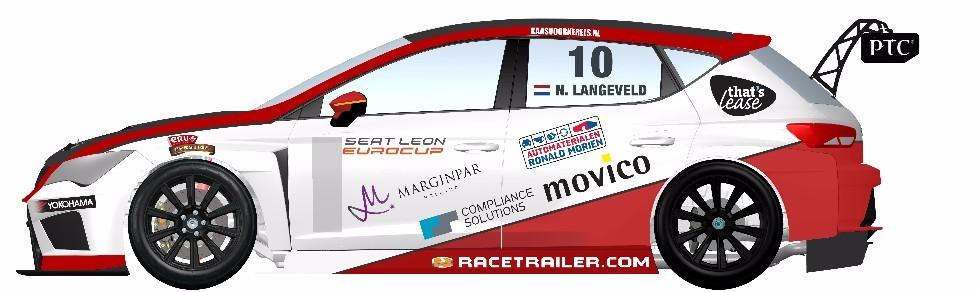 Kampioensteam voor Niels Langeveld in SEAT Leon Eurocup 2016