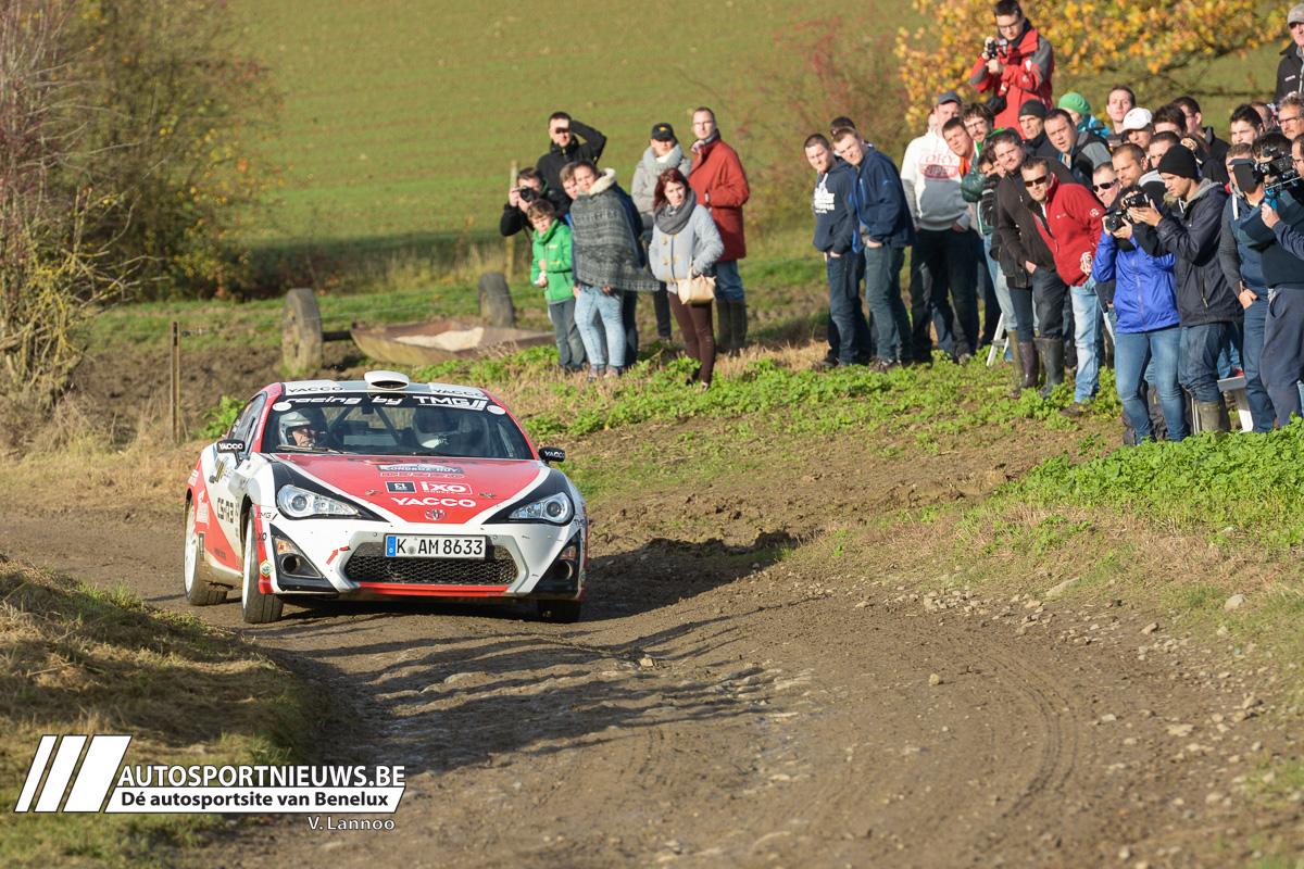 Polle Geusens met Toyota GT86 CS-R3 aan de slag in Condroz rally