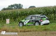 Ghislain de Mévius met de BMA Skoda Fabia R5 in verschillende manches van WRC-2