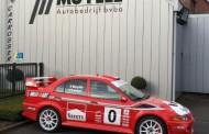 Wouter Muylle als safety met vernieuwde EVO VI in TAC Rally