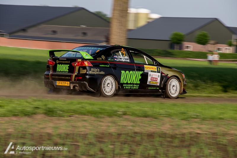 Rookie Rally Team handhaaft zich in subtop tijdens ELE Rally
