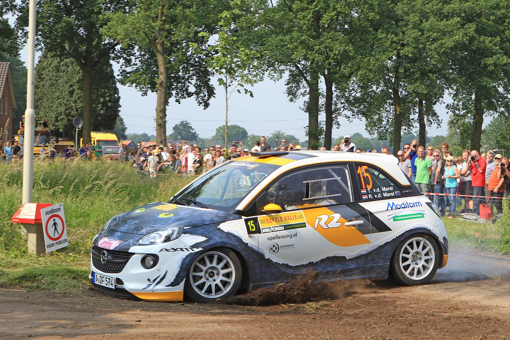 Timo van der Marel overtuigt in snelle Adam R2 tijdens ELE Rally