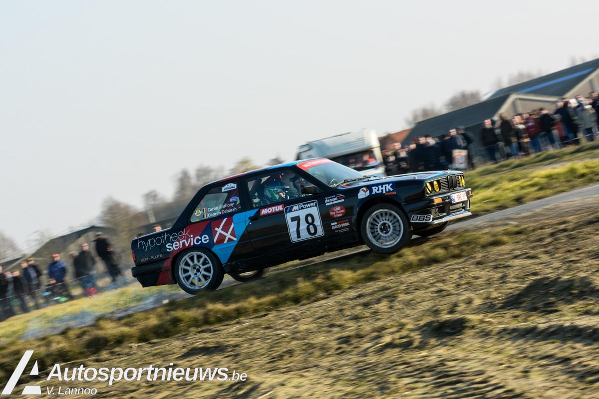 Anthony Caron voor de eerste maal van start in de Kenotek Ypres Rally