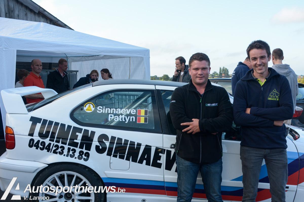 Jens Sinnaeve voor de eerste maal aan de start in de Ypres Rally