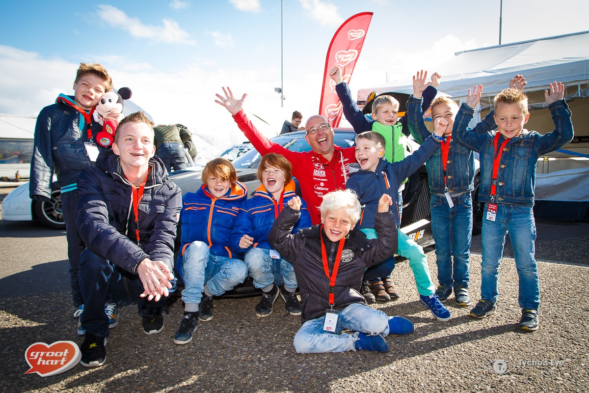 Robin Frijns racet met Groot Hart Kids tijdens Zandvoort Masters