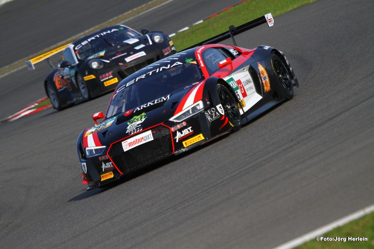 Xavier Maassen knap in ADAC GT Masters op Nurburgring