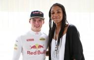 GOUDEN DUO Olympisch kampioene Nafi Thiam ontmoet F1-wonderkind Max Verstappen bij Red Bull Racing tijdens F1 Spa-Francorchamps