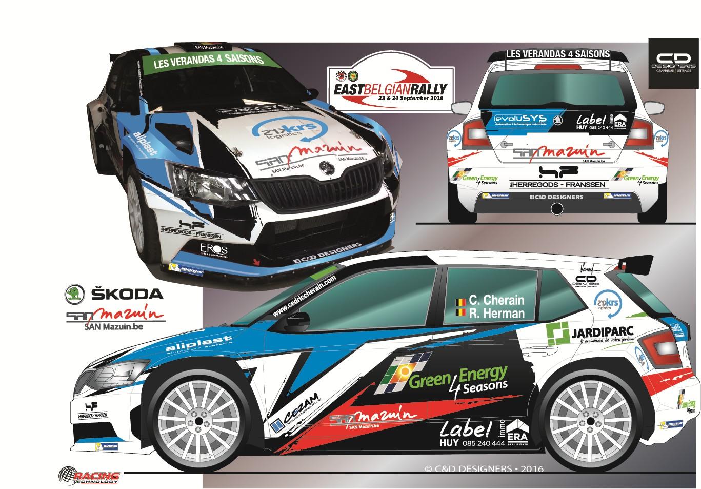Fabia R5 voor Cedric Cherain in East Belgian Rally en Condroz