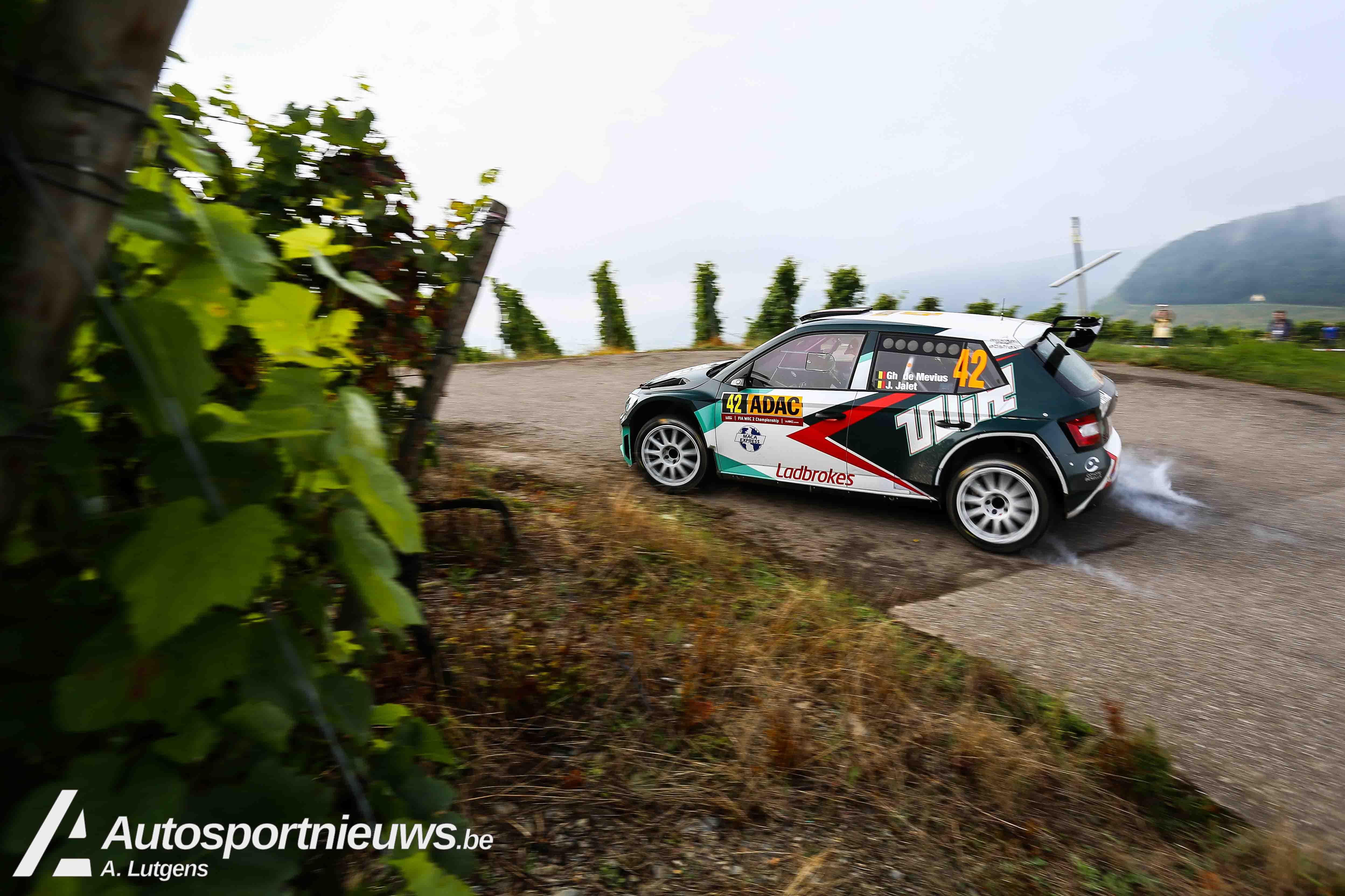 Ghislain de Mevius, Johan Jalet en BMA aan de voet van het podium in WRC2!