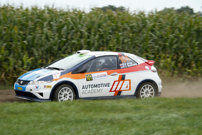 Pech voor het Automotive Academy Rallyteam in Hellendoorn.
