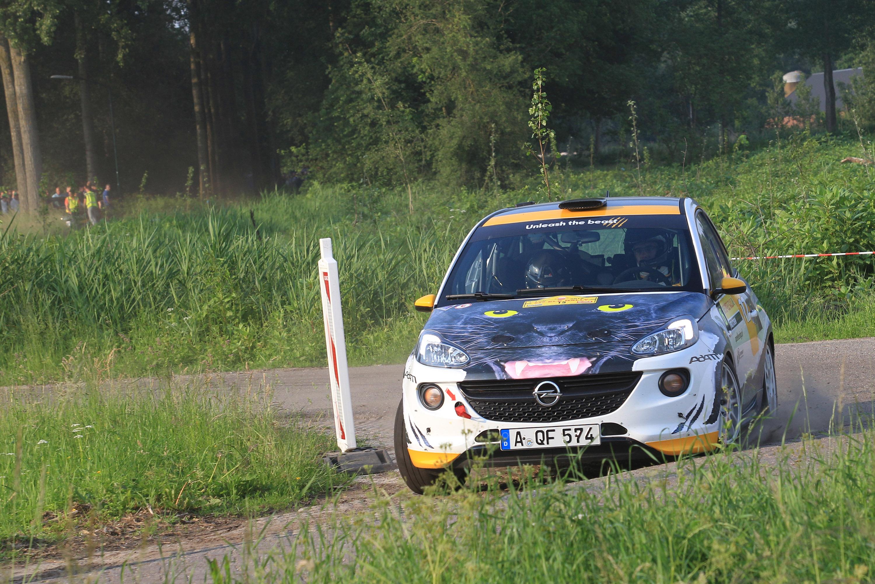 Timo van der Marel 4de in GTC Rally met Opel Adam R2