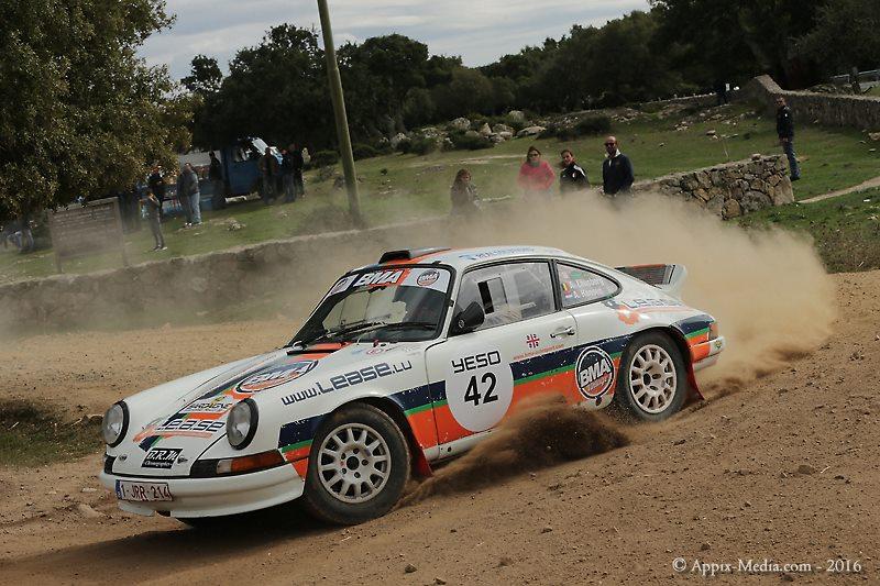 Vijf BMA Porsches 911 in top 10 - Historic Sardinië Rally 2016