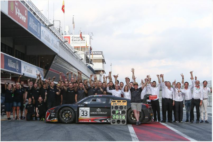 Enzo Ide en het Belgian Audi Club Team WRT kampioen in de Blancpain GT Series Sprint Cup !