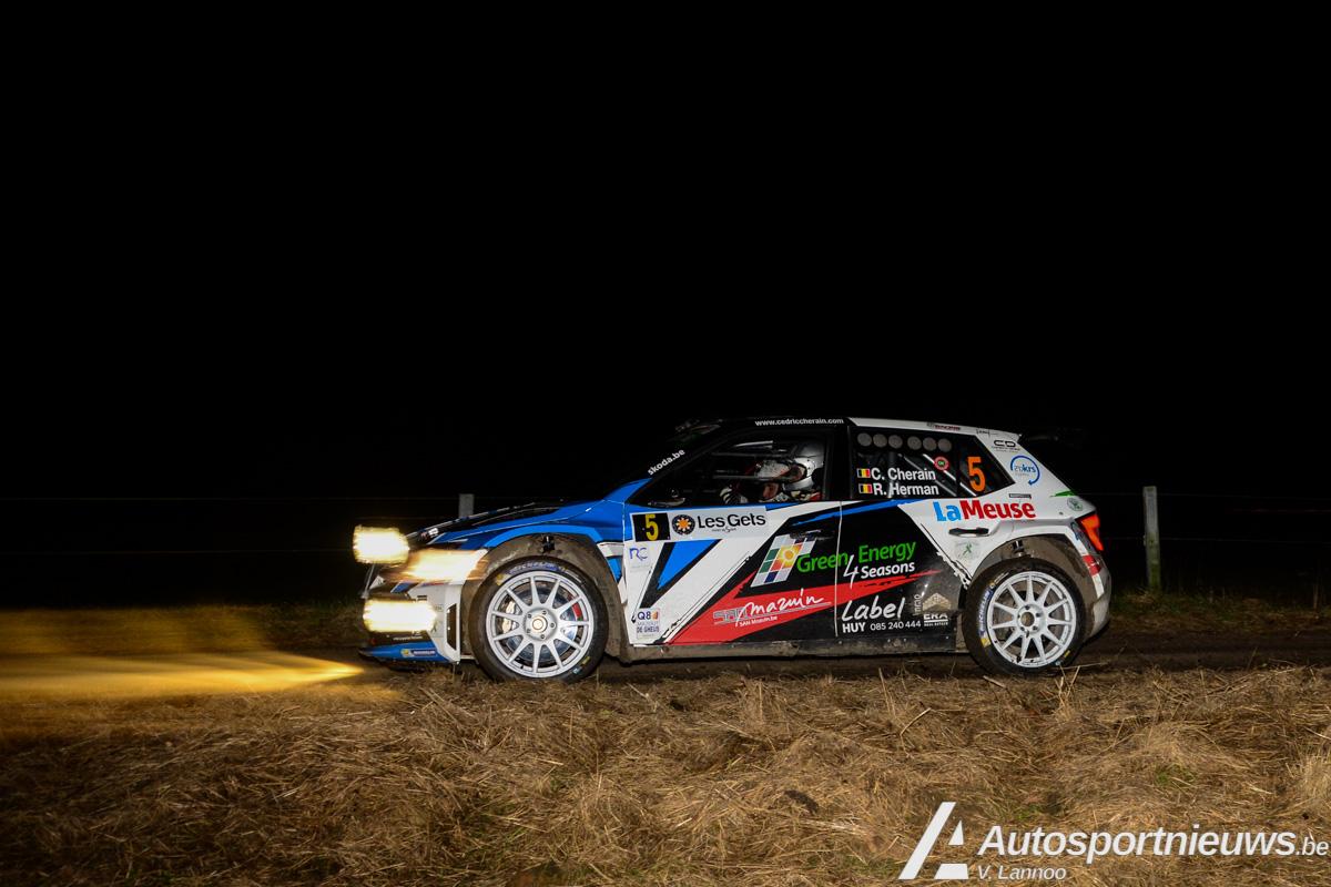 Officiële timing - 122 km tegen de klok - 20 tal R5's - Condroz Rally