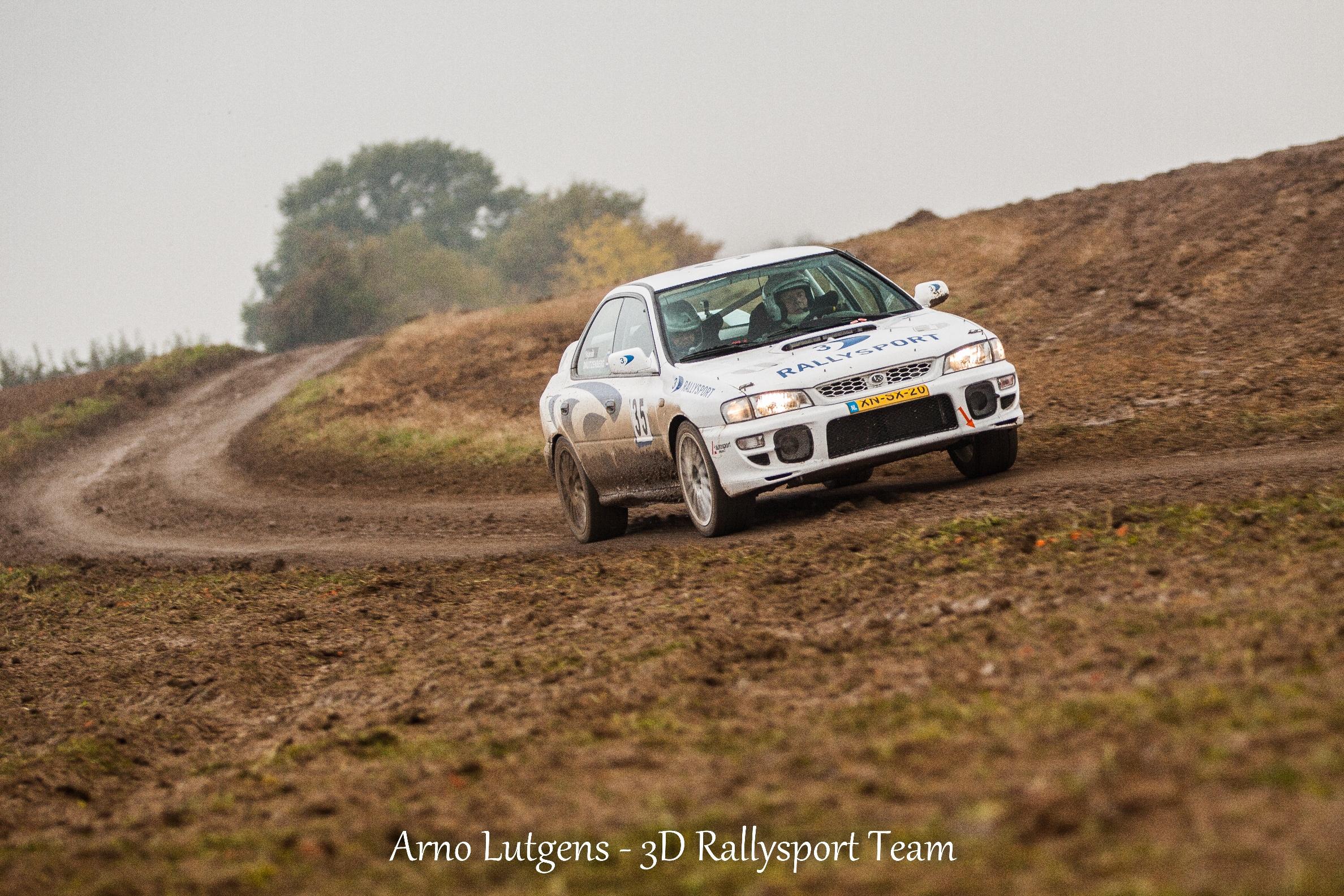 Het 3D rallysport team haalt de finish van de Rally van Zuid-Limburg net niet.