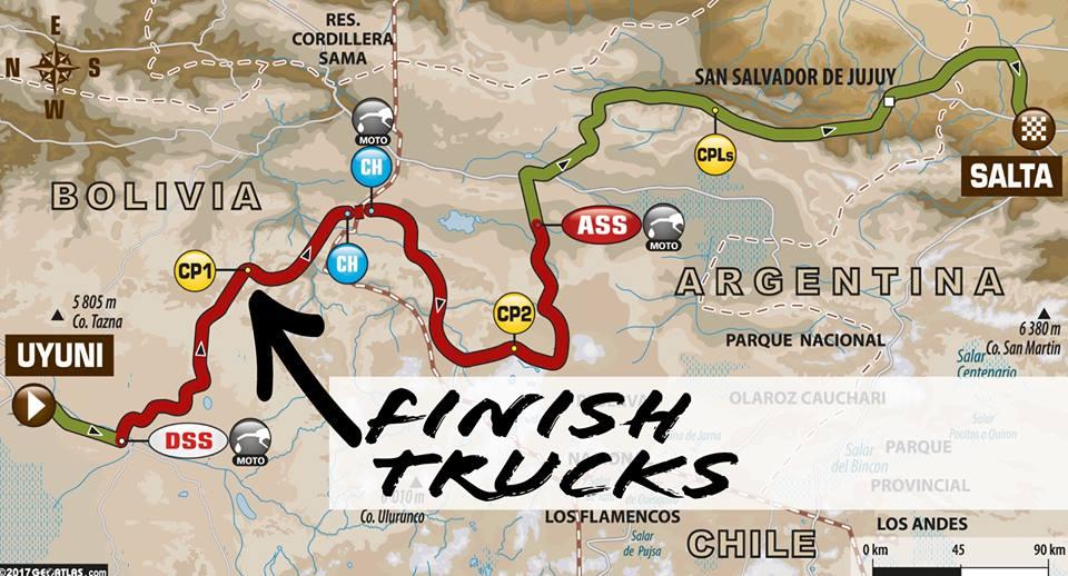 Riwald dakar team: Etappe voor de trucks weer ingekort