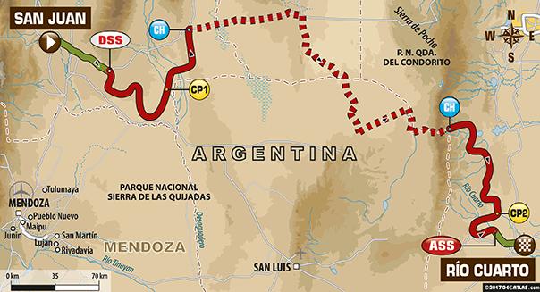 Vrijdag 13-01: Etappe 11 San Juan -> Rio Cuarto