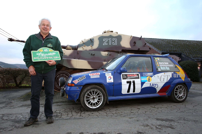 Rene Marin met Renault 5 GT Turbo in Legend Boucles Bastogne