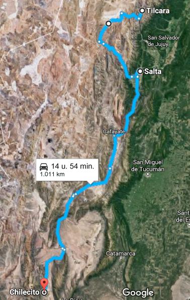 Etappe 9: Salta > Chilecito - CANCELLED