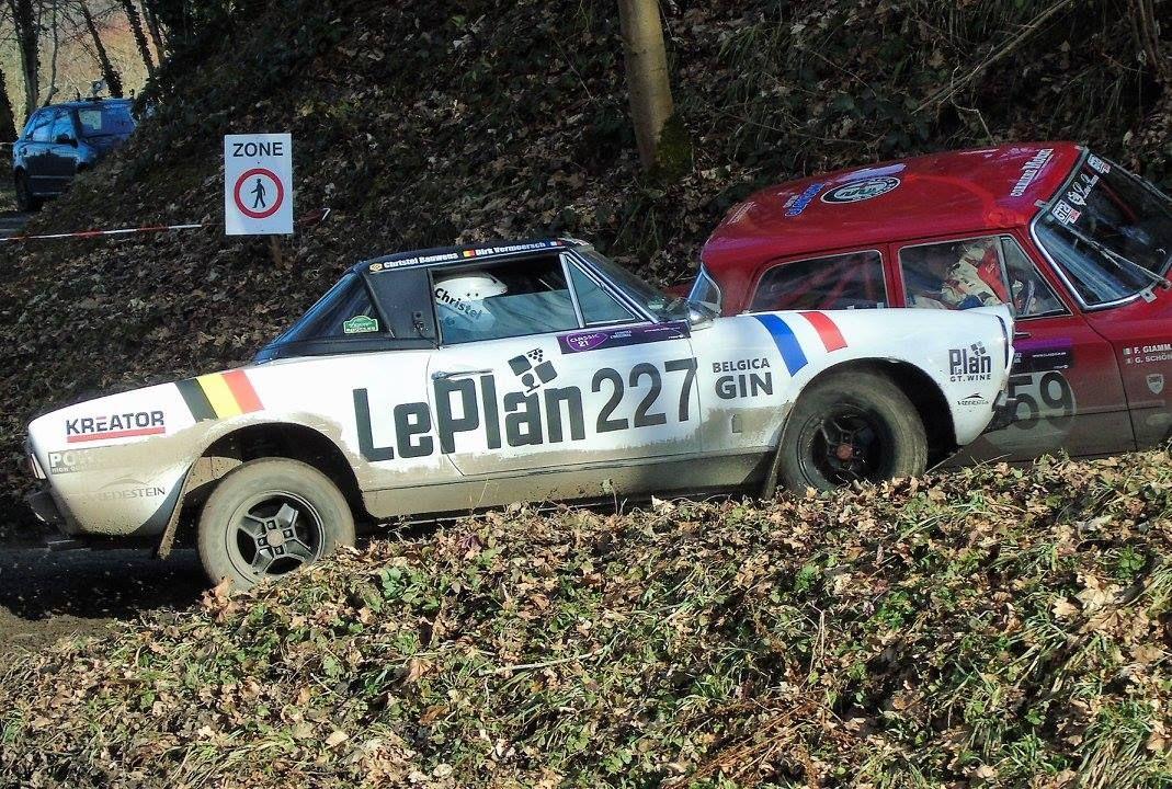 Dirk Vermeersch met Fiat 124 Spider GT in Belgian Historic Rally Championship