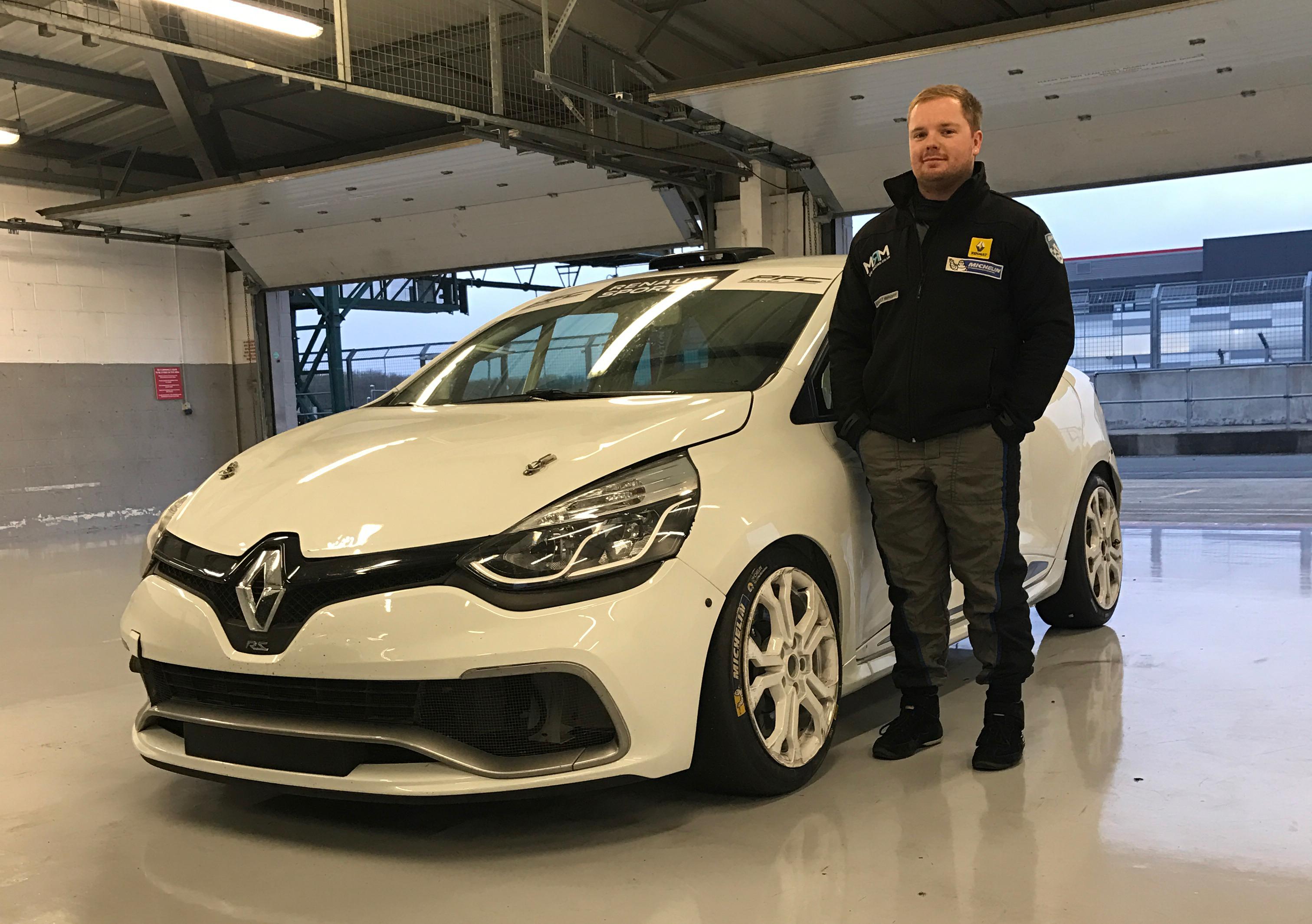 Brett Lidsey rijdt mee in Renault Clio Cup Benelux