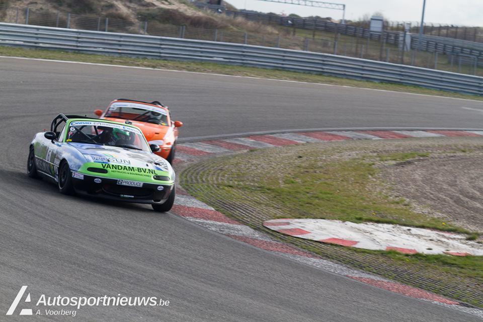 Eerste wedstrijd Mazda MaX5 cup valt ten prooi aan Marcel dekker