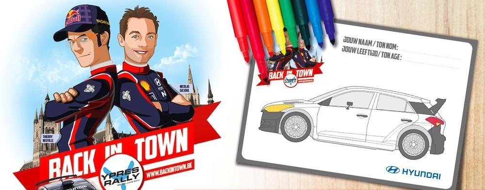 Kinderen mogen decoratie bepalen van Hyundai i20 R5 voor Thierry Neuville - Ypres Rally