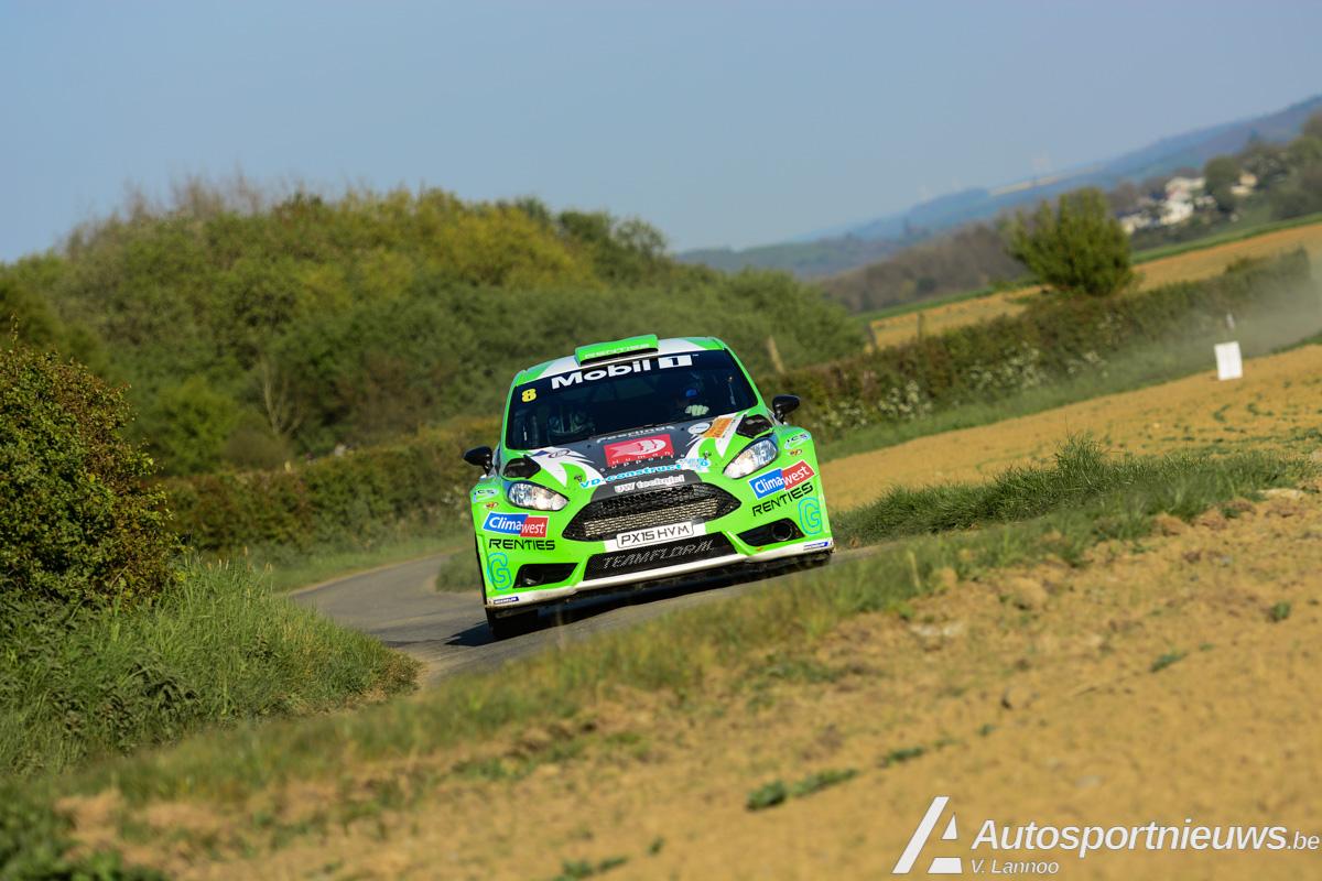Knappe 8ste plaats voor Polle Geusens in Rally van Wallonië