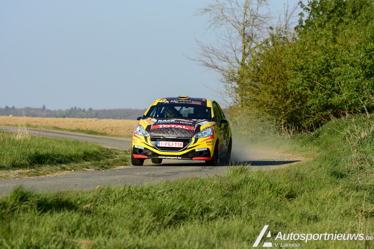 Guillaume de Mevius schittert in Rally van Wallonië - Junior BRC
