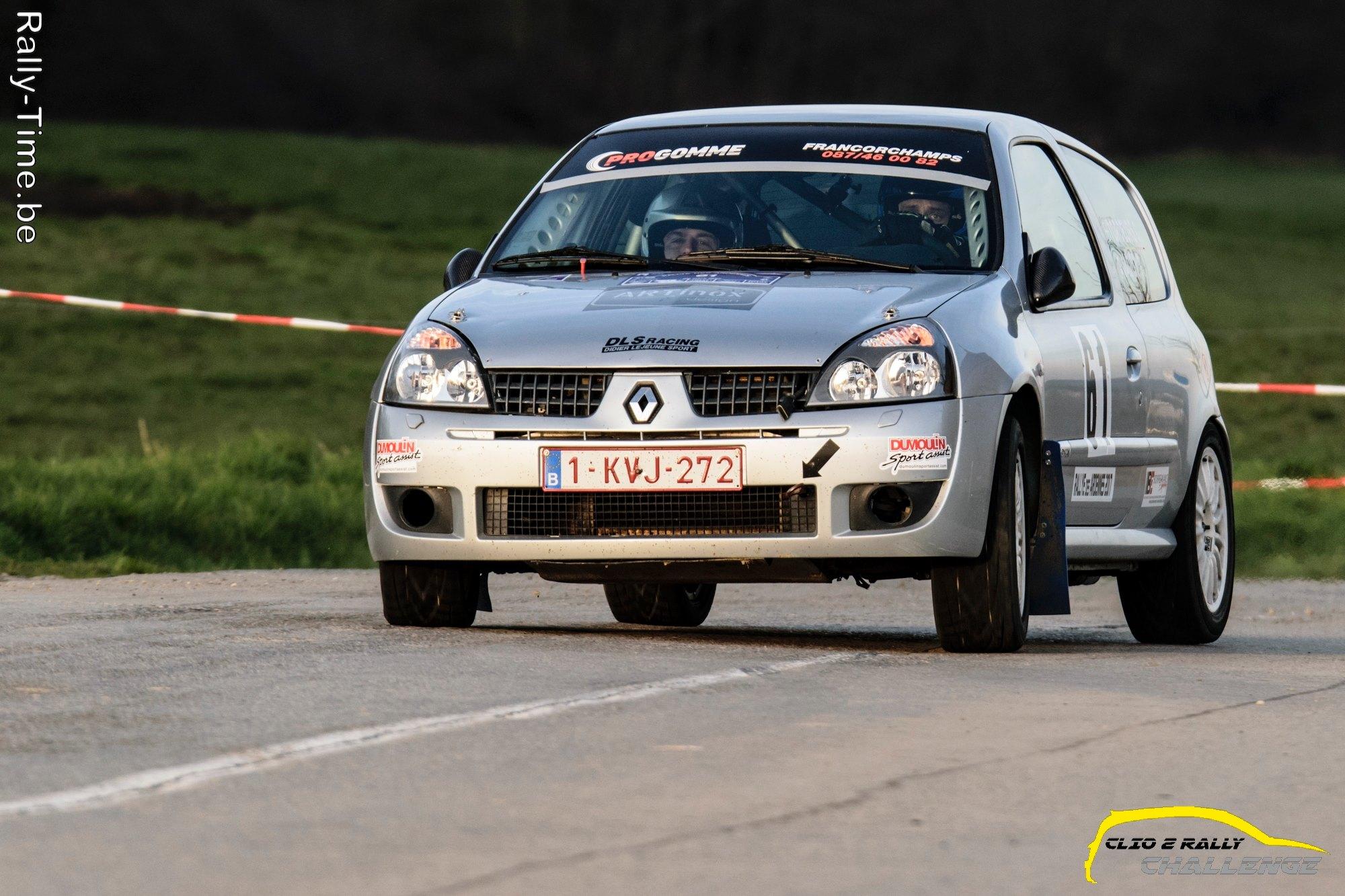 Monteberg Shortrally 2de manche Clio 2 Rally Challenge