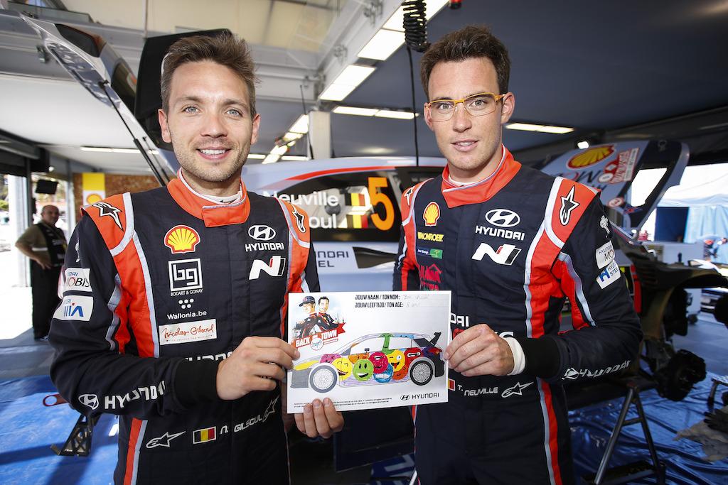 Thierry Neuville en Nicolas Gilsoul kiezen emoji-tekening als design voor hun rallywagen