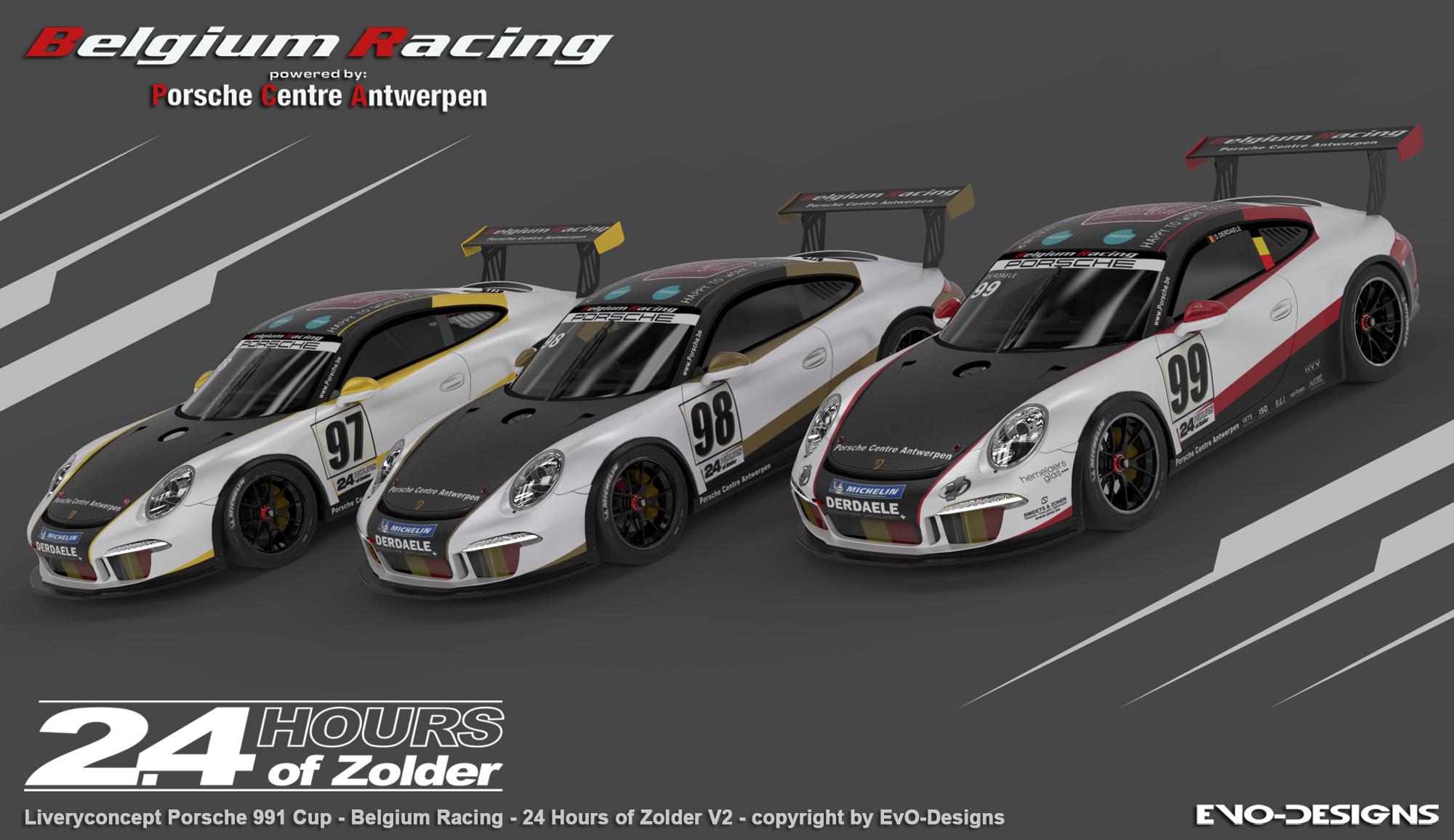 Belgium Racing met drie Porsches richting 24 Hours of Zolder?