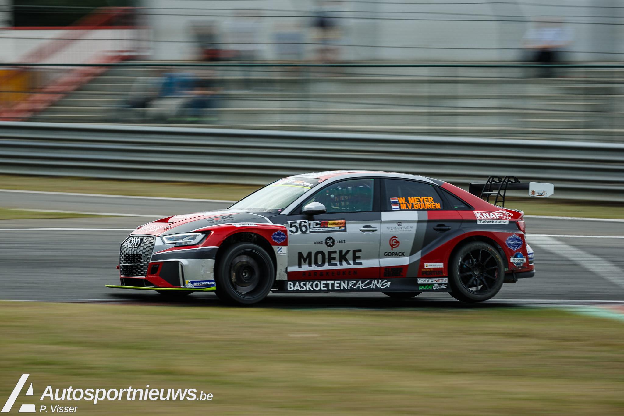 Alexis van de Poele met Audi RS3 LMS van Bas Koeten Racing