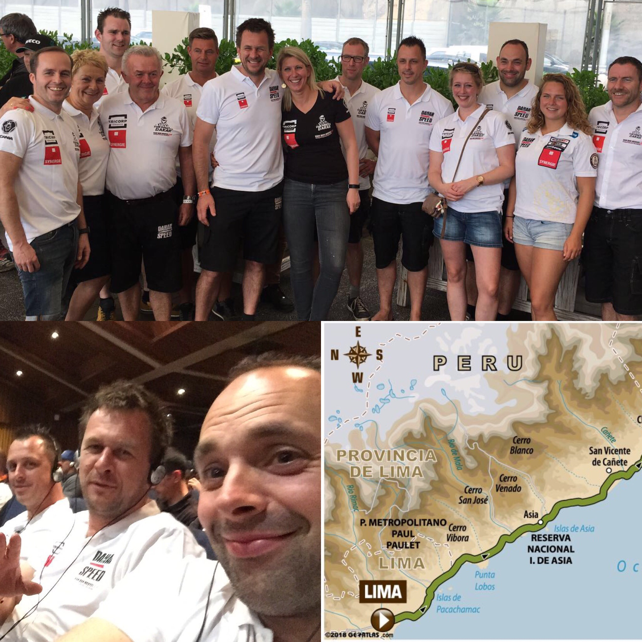 Team Dakarspeed klaar voor de eerste etappe in Dakar 2018