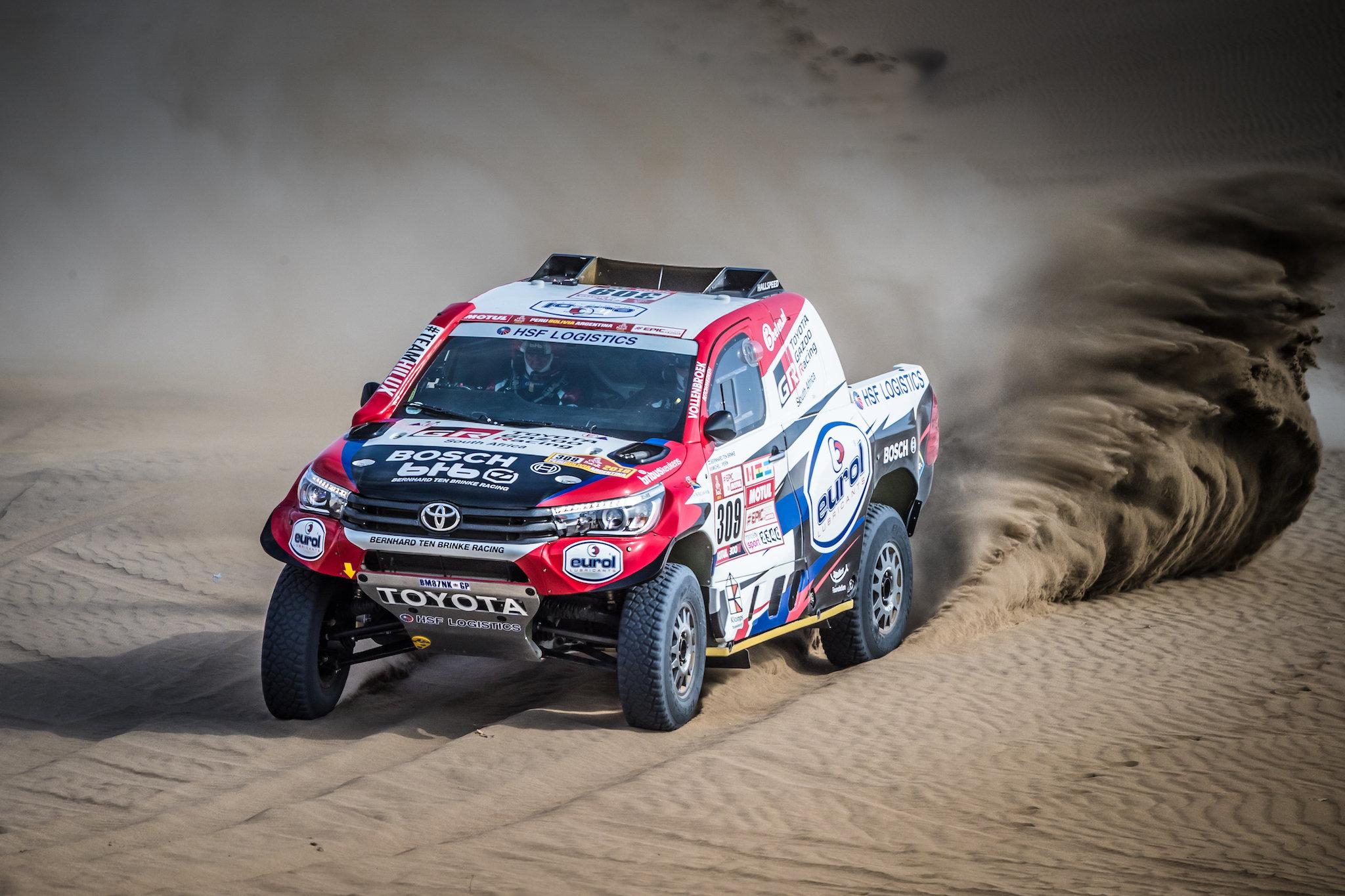 Bernhard ten Brinke tweede in openingsetappe Dakar Rally 2018