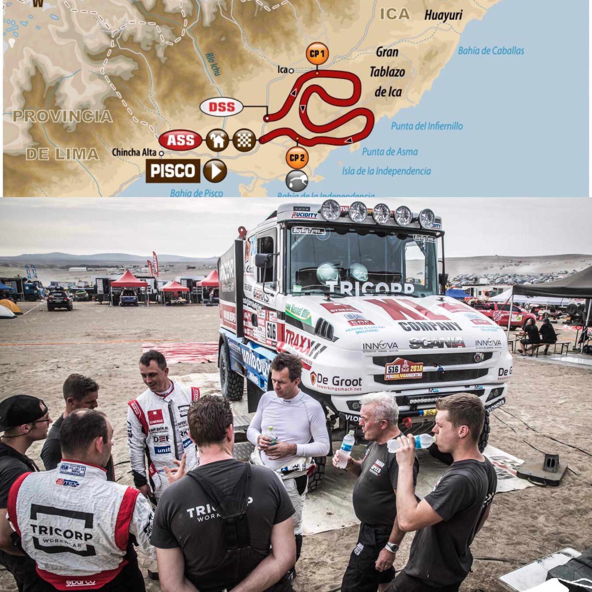 Team Dakarspeed op een mooie 14de plaats na de eerste etappe
