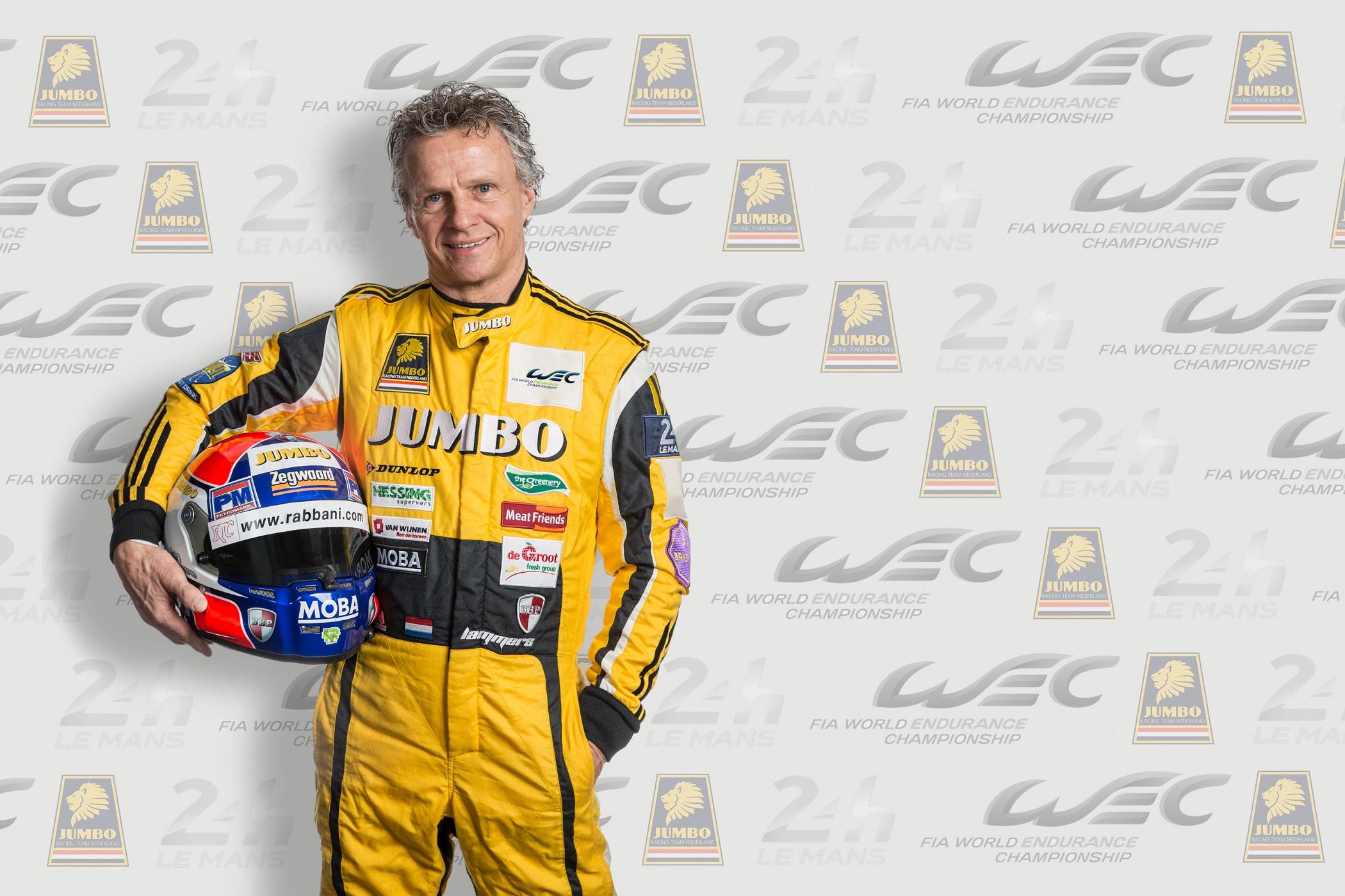 Jan Lammers met Racing Team Nederland voor de 24ste keer in 24 uur van Le Mans