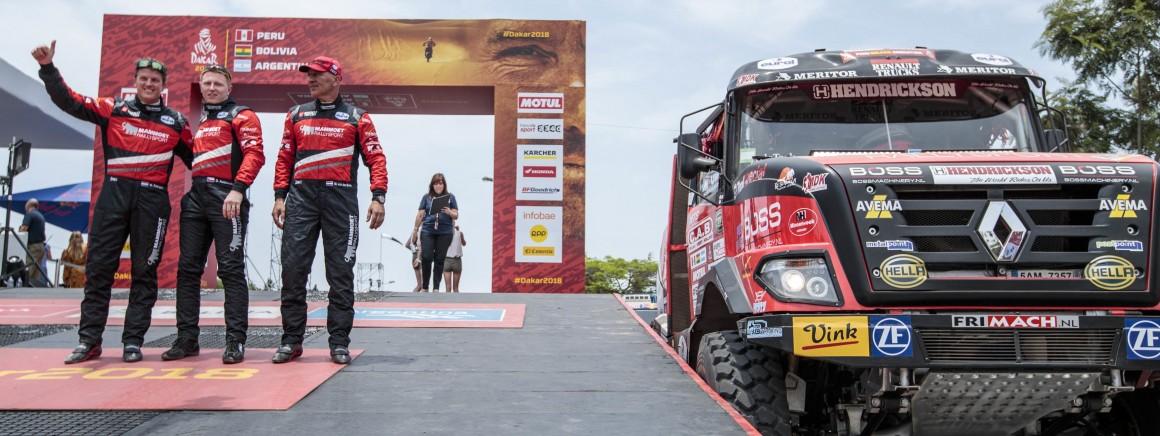 Martin van den Brink opent Dakar Rally met tweede plaats