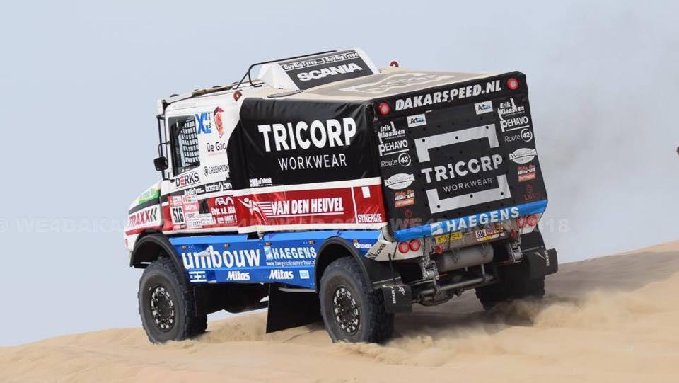 Maurik van den Heuvel is blij met zijn krachtige truck