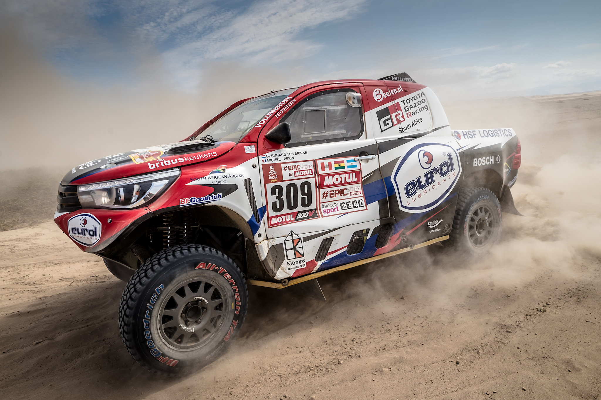 Imponerende tweede plaats voor Bernhard ten Brinke in 5e Dakar etappe