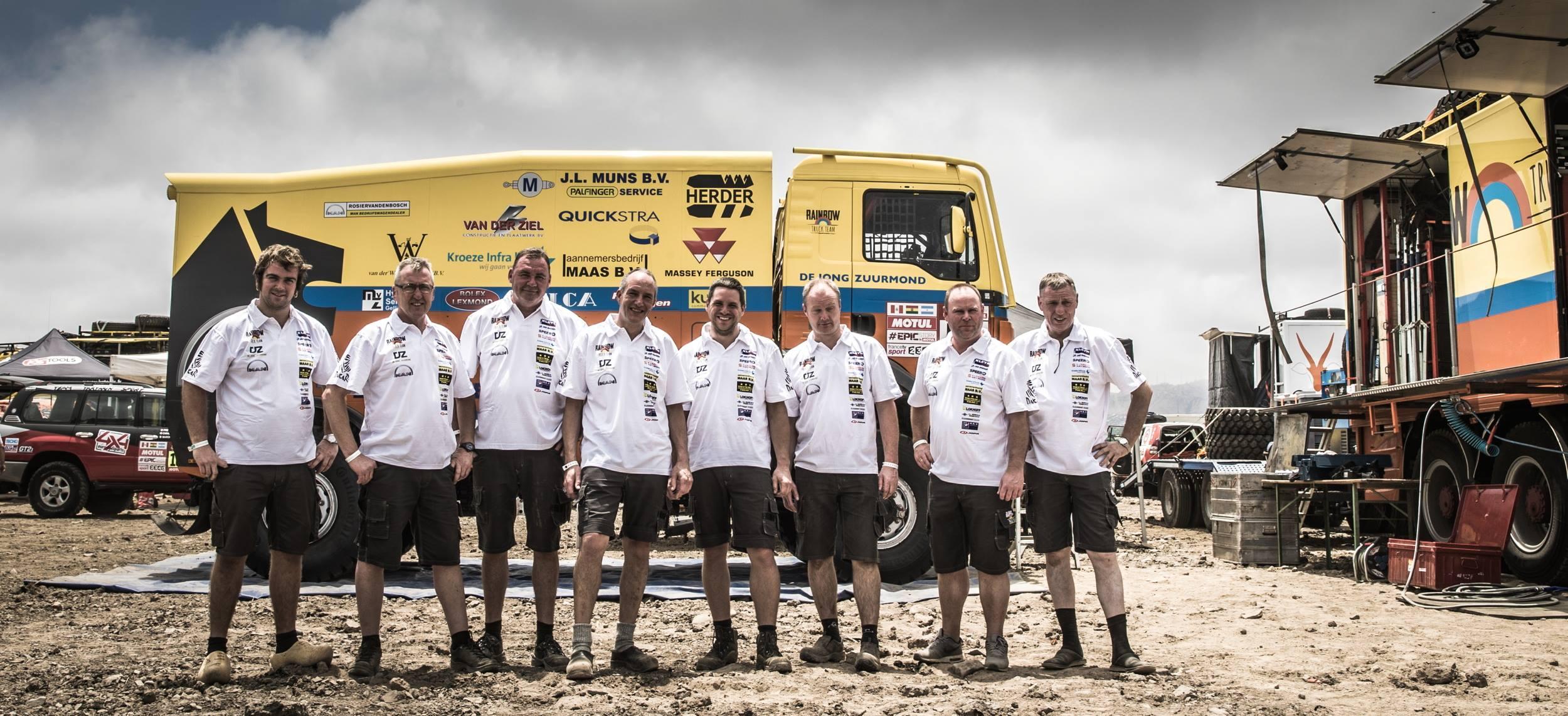 Rainbow-team verheugt zich op een week vol zand