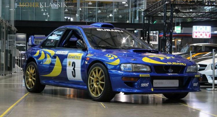 De ex-McRae Subaru, wereldkampioen 1997, in geschreven in Demo - Legend Boucles de Bastogne